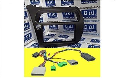 G.M. Production–6068Kit + 776–Radioblende Radio Monitor Doppel 2DIN Honda mit Kit Befehle Lenkrad für Produkte japanischen wie Pioneer, Sony, Alpine, JVC, Kenwood (zurück Display und Klima von Serie) und Kabel Antenne [Fotos und Angaben zur Kompatibilität beachten]