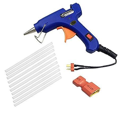 iflight Mini Heißklebepistole 12V T-Stecker mit 10Stück Melt Kleber Sticks und 1XT60Stecker für FPV Racing Outdoor Reparatur