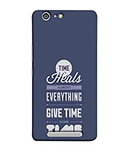 Fuson Designer Back Case Cover for Gionee Marathon M5 (Healing Heal Time Quote Message )