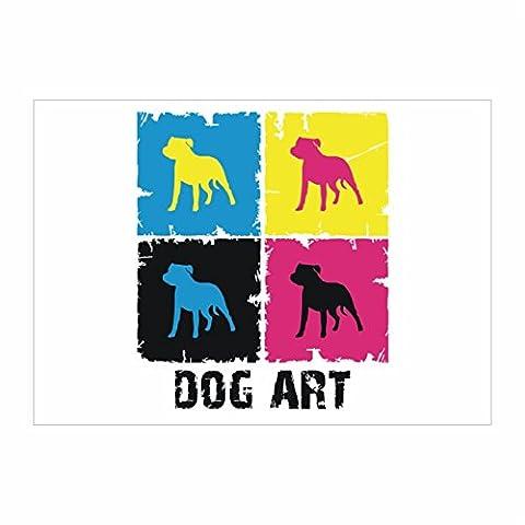Idakoos - Staffordshire Bull Terrier DOG ART POP ART -