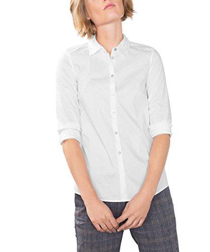 ESPRIT 086EE1F031, Camicia Donna, Bianco (WHITE), 38