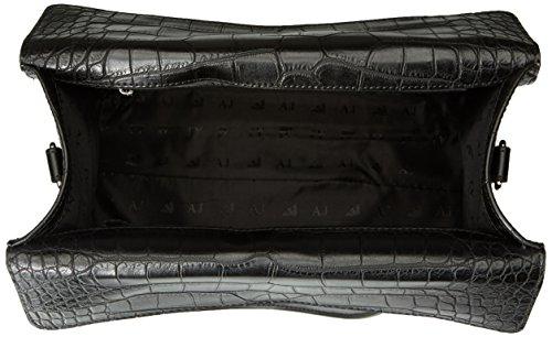 ARMANI JEANS - Borsa a tracolla da donna pitonata 922146 top handle nero Nero