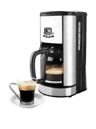 Lacor 69279 - Cafetera de goteo programable, 900 W 1,80 litros, 20 tazas, color negro