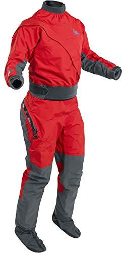 Palm Kajak oder Kajak - Frauen Cascade Frontzipp Kayak Drysuit Dry Suit + Drop Seat Flame Red - 3 Schicht - Dry -