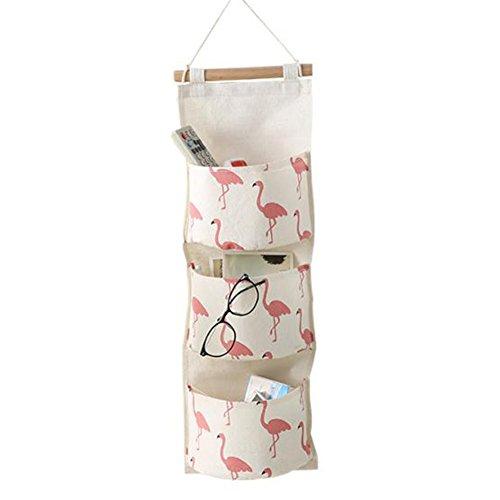 wdoit Aufhängen Aufbewahrungsbeutel Wand Tür Organizer Tasche Badezimmer Wohnzimmer Schlafzimmer Küche (Kleber Taschen)