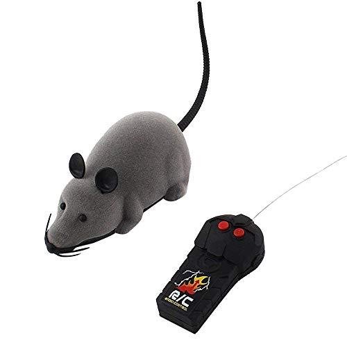 Vovotrade Novelties Rattenspielzeug RC lustige kabellose elektronische Fernbedienung Maus R Spielzeug für Katzen Hunde Haustiere Kinder Geschenk (Grau)