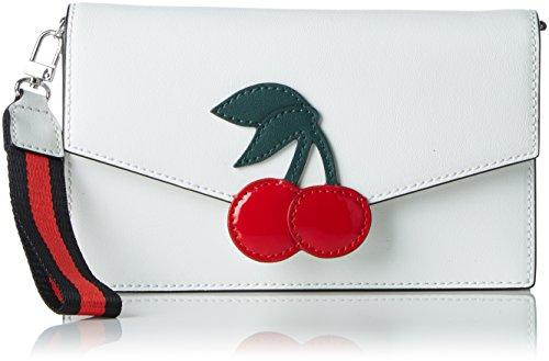 Tosca Blu Damen Cherry Tornistertasche, Weiß (White), 2x12x20 cm