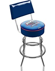 NCAA DePaul University Padded Swivel Bar Stool with Back by Trademark Gameroom