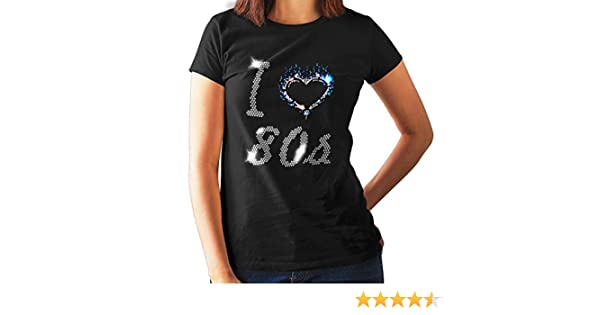ANY SIZE ROCK ON GUITAR DESIGN FITTED  LADIES T SHIRT WITH RHINESTUDS