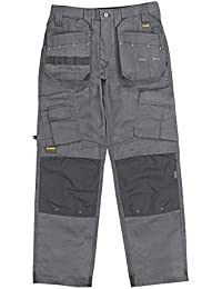 "DeWalt Pro Tradesman Work Trousers Grey / Black 32"" W 31"" L"
