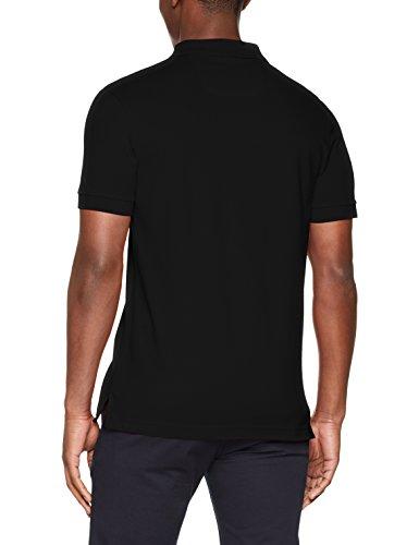 BOSS Athleisure Herren Poloshirt Piro Schwarz (Black 001)