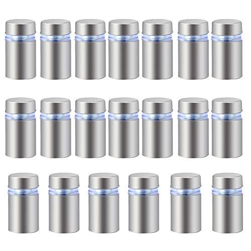 HSeaMall Edelstahl Werbung Schraube 12 x 20mm Nägel Glas Standoff Halter 20PCS -
