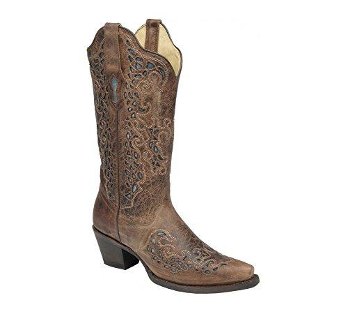Corral Boots  R1245, Bottes et bottines cowboy femme Marron - Brown Turquoise