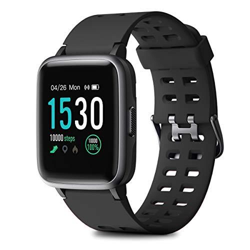 HOMVILLA Smartwatch, Fitness Armband Fitness Tracker Wasserdicht IP68 Fitness Watch mit Herzfrequenz Messgerät Schlafmonitor Intelligentes Armband Fitness Uhr Stoppuhr Kalorienzähler für Damen Herren - Intelligentes Lcd