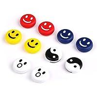 MCbike 10pcs Silikon-Smile Face Tennisschläger Vibration Dämpfer Stoßdämpfer
