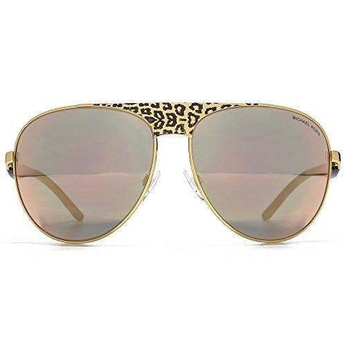 Michael kors sadie ii, occhiali da sole unisex - adulto, nero (black gold 1057r5), taglia: 62