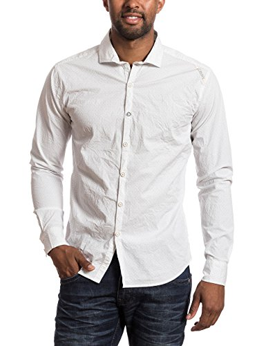 Timezone Longsleeve Shirt - Chemise de loisirs - Homme Blanc - Weiß (white minimal 1028)