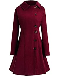 Street27 Plus Size Buttoned Long Coat