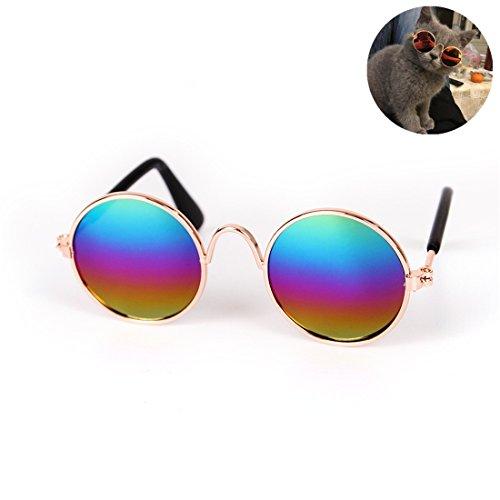 Zsypet Lunettes UV de protection d animal familier Lunettes de soleil de  chat imperméables - 1f4eb85bc474