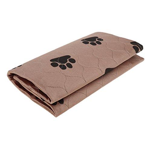 Baoblaze Trainingsunterlagen Wasserdicht Hund Inkontinenzunterlagen Welpenunterlagen Urinschutz Schutzmatte, Farben und Größen wählbar - Braun L