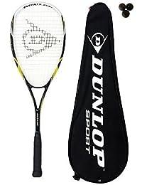 Dunlop Biotec Max Raquette de squash en titane + 3 balles