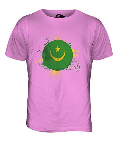 CandyMix Mauretanien Fußball Herren T Shirt Rosa