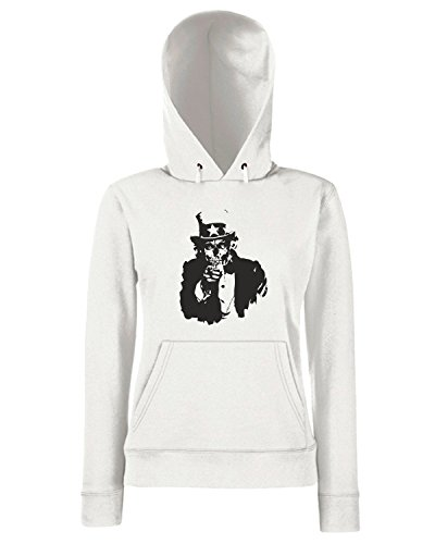 T-Shirtshock - Sweats a capuche Femme FUN0012 01 13 2013 Uncle Corpse T SHIRT det Blanc