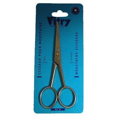 VITRY : ciseaux pour moustaches inox mat