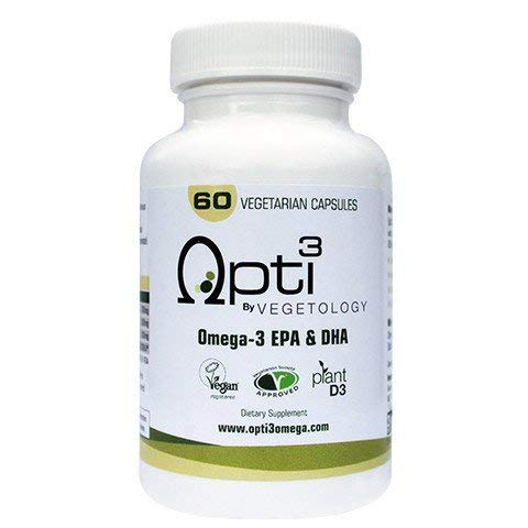 Opti3 Omega-3 EPA & DHA- Vegan Omega 3 Supplement - 60 Vegicaps