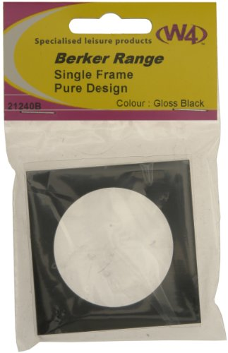 Price comparison product image W4 Berker Single Frame Fitting - Black