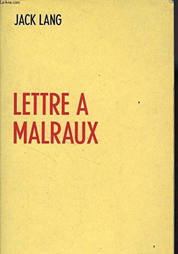 Lettre à Malraux