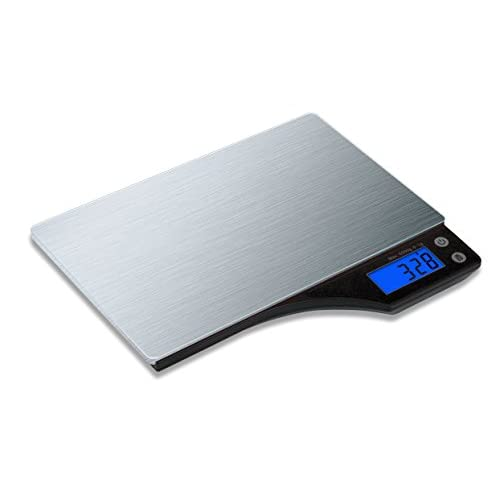 41v4j50O5xL. SS500  - Kabalo Stainless Steel Kitchen Household Food Cooking Weighing Scale 5kg capacity 5000g/1g, Batteries Included! Flat Slim Design, Premier LCD Digital Electronic, with blue backlight