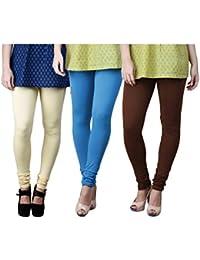 Limeberry Women's Cotton Legging Pack of 3 (LB-3PCK-LEGG-CMB-9_Multicolor)