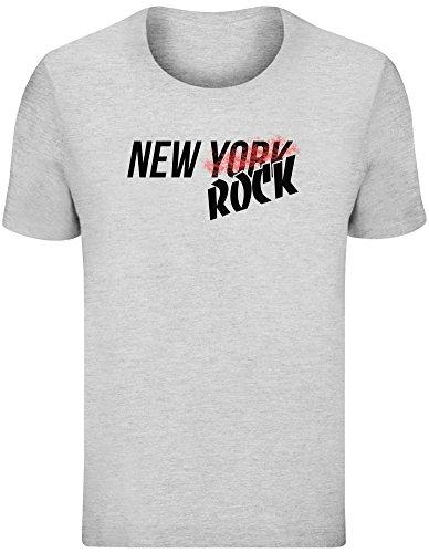 New York Felsen - New York New Rock T-Shirt Top Short Sleeve Jersey for Men 100% Soft Cotton Mens Clothing Large