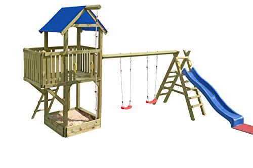 Empfehlung: Gartenpirat Spielturm Navigator mit Schaukel und Rutsche  von Gartenpirat*