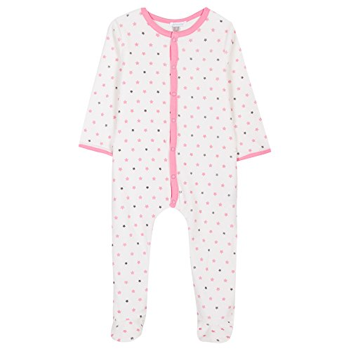 Absorba Boutique Unisex Baby Strampler Nuit Layette Rosa (Bubble Gum 33) 56 (Herstellergröße: 1M)