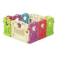 سياج حماية للأطفال - بتصميم رائع - Baby care playpen - Fence Kids Activity Centre Safety Play Yard Home Indoor-Outdoor Baby Fence (Size: 120 * 120cm) foldable