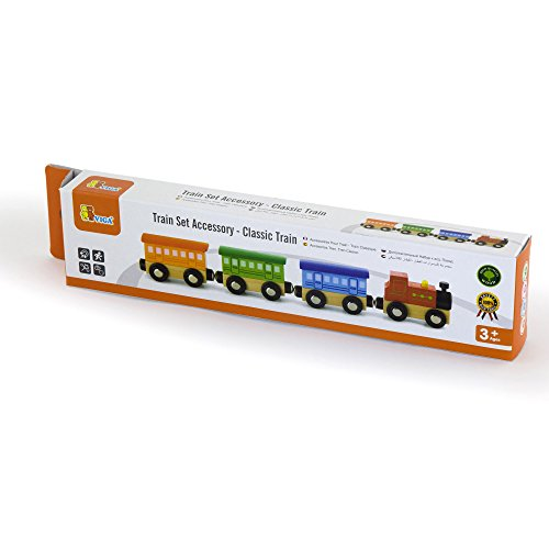 Viga Wooden Classic Train & Carriages