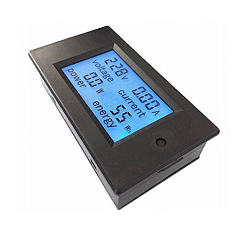 Absolute Native Electronics Voltage Current Power Watt Energy meter Gauge AC 80-260V/20A voltmeter Ammeter Watt Power Meter, 4 in 1 meter
