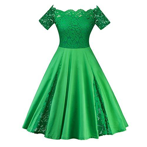 Sissi Kostüm Fasching - Zegeey Damen 50er Jahre Spitzen Abendkleider