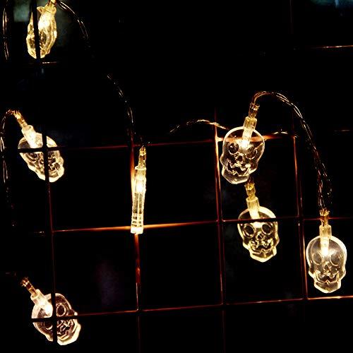 """Newin Star Halloween Skull Lights 10 Lights 59""""luces decorativas para la fiesta de Halloween Home Indoor Outdoor Decoration (luces de colores)"""