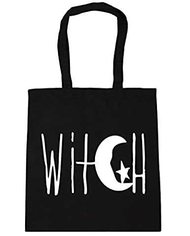 HippoWarehouse Witch Crescent Moon and Star Design Tote Shopping Gym Beach Bag 42cm x38cm, 10