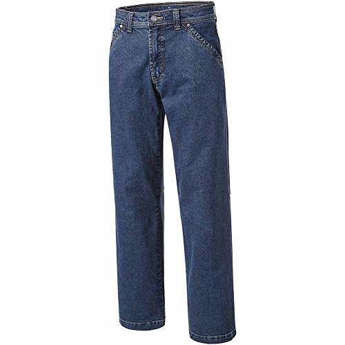 PIONIER WORKWEAR Herren 5-Pocket-Jeans mit Zollstocktasche in blau (Art.-Nr. 347) blue,Größe 48 Blue Denim Bekleidung