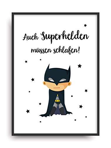 (Kunstdruck SUPERHELD Poster Bild ungerahmt DIN A4 Geschenk)