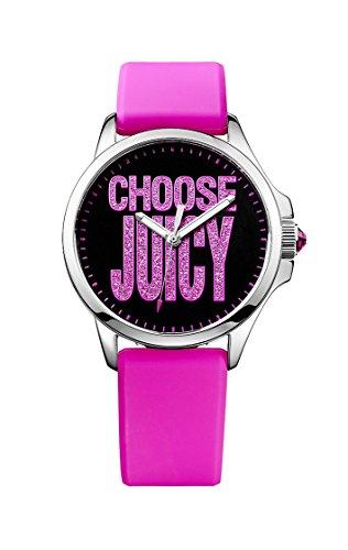Juicy Couture - Orologio da polso, analogico al quarzo, gomma