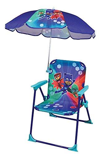 Fun House 712852 PYJAMASQUES Chaise - Fauteuil avec Parasol pliable pour Enfant
