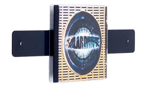 Farbige Design CD-Wand / CD Wanddisplay / CD Wandhalter / CD Halter - CD-Wall Square 1x3 Farbe: schwarzgrau für 3CDs zur sichtbaren Präsentation Ihrer Lieblings Cover an der Wand