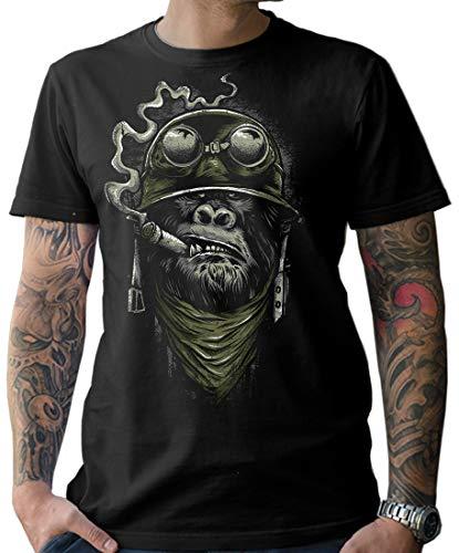 NG articlezz Herren Biker T-Shirt - Gorilla Monkey Kultiges Kurzarmshirt für die Motorradfahrer unter Euch. Gr. S-XXXXXL