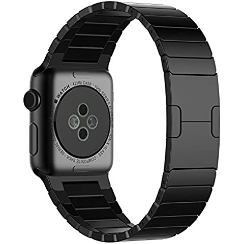 Apple Watch Correa, JETech® 42mm Acero Inoxidable Pulsera con Cierre de Mariposa Reemplazo de Banda para Apple Watch Todos los Modelos 42mm