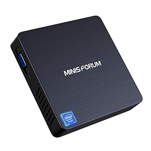 N33 Fanless Mini PC Intel Celeron N3350 (up to 2.4 GHz) Windows 10 Pro 64-bit OS, 4GB LPDDR4 Ram/ 64GB eMMC/Support SSD, HDMI&VGA Outputs, 4K/ 2.4G+5G WiFi/ 1000M LAN/BT 4.2/ 3X USB 3.0
